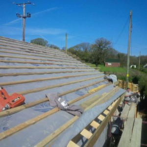 Traditional Pitched Roof with Trusses & Slate